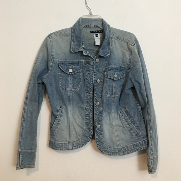 GAP Jackets & Blazers - GAP faded denim jacket size M
